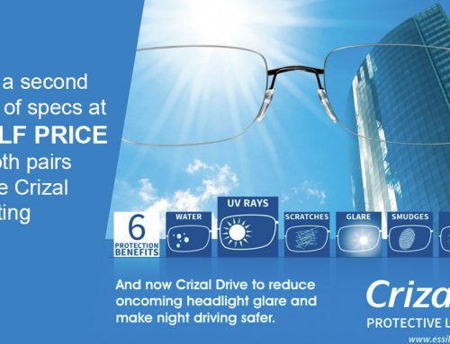 Half Price Frames with Crizal UV Lenses